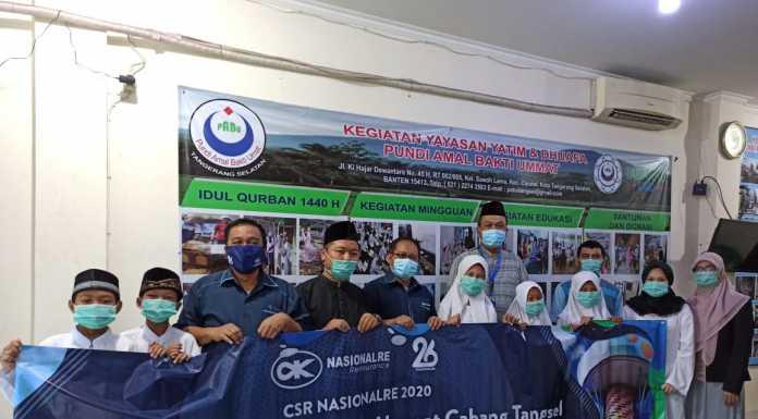 CSR  'Nasionalre' 2020 Hari Jadi ke- 26,  Kunjungi Yayasan PABU Tangerang Selatan
