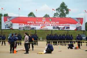 Korps Brimob dan DVI Polri Hadir untuk Kemanusiaan. Foto: Jakarta.terkini.id.
